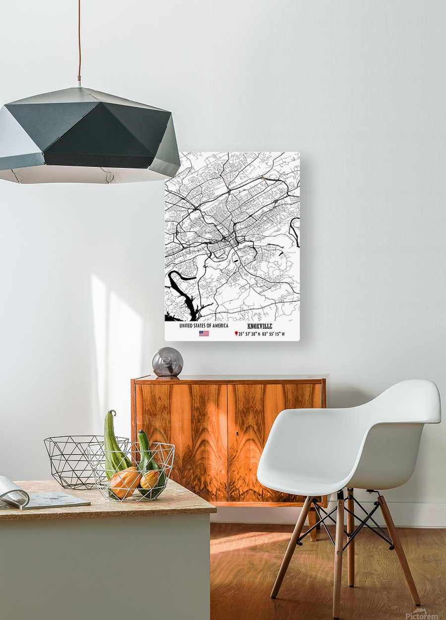 Knoxville USA  HD Metal print with Floating Frame on Back