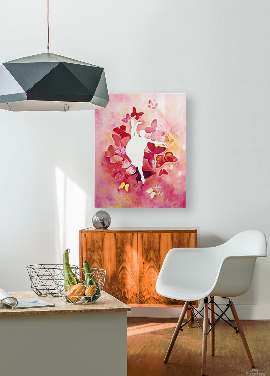 Balerina Anastasia  HD Metal print with Floating Frame on Back