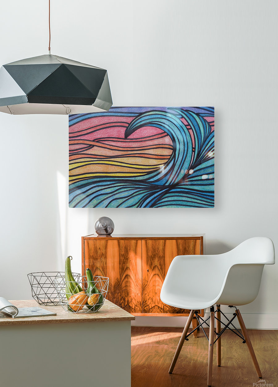 Twilight Wave   HD Metal print with Floating Frame on Back