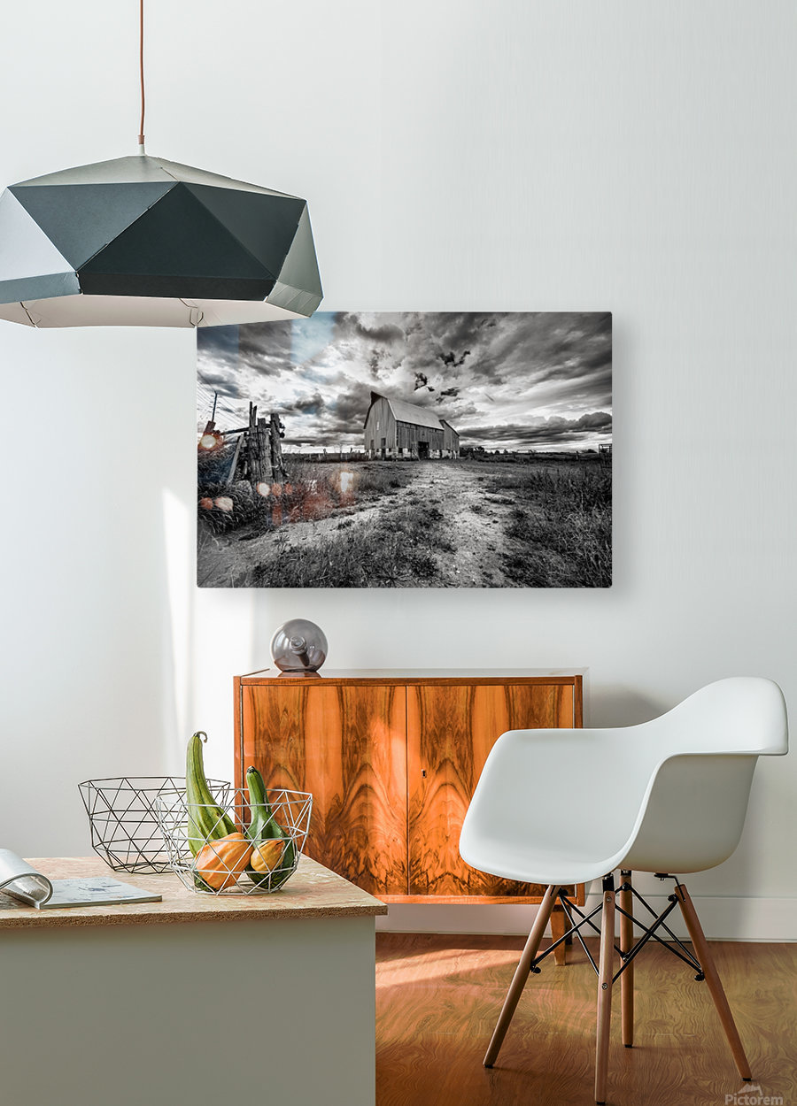 The Barnyard  HD Metal print with Floating Frame on Back