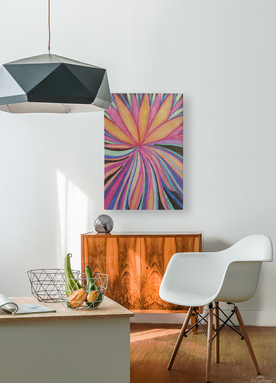 Blossom  HD Metal print with Floating Frame on Back