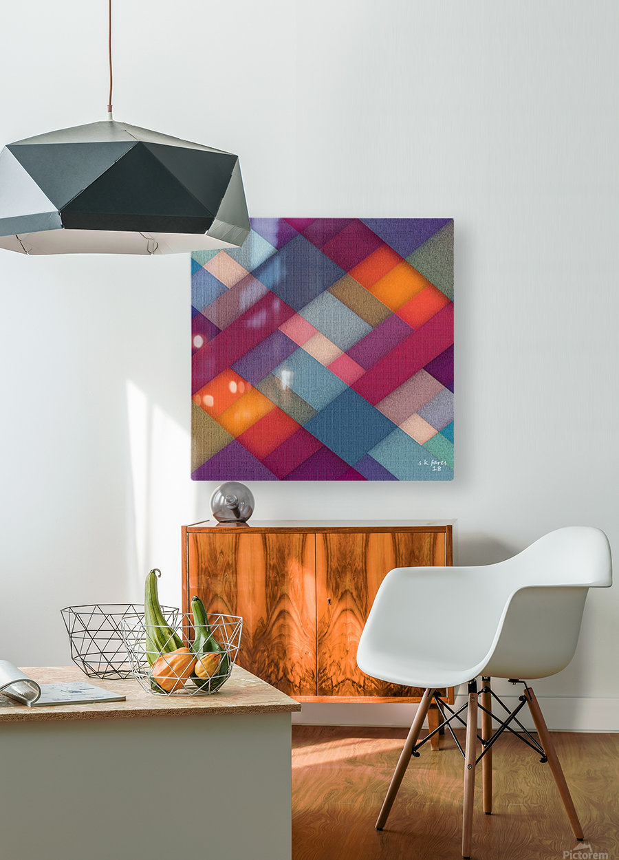 ABSTRACT ART 06  HD Metal print with Floating Frame on Back