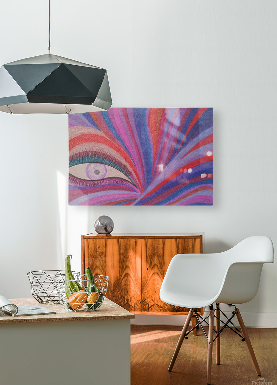 Fairy Eye  HD Metal print with Floating Frame on Back