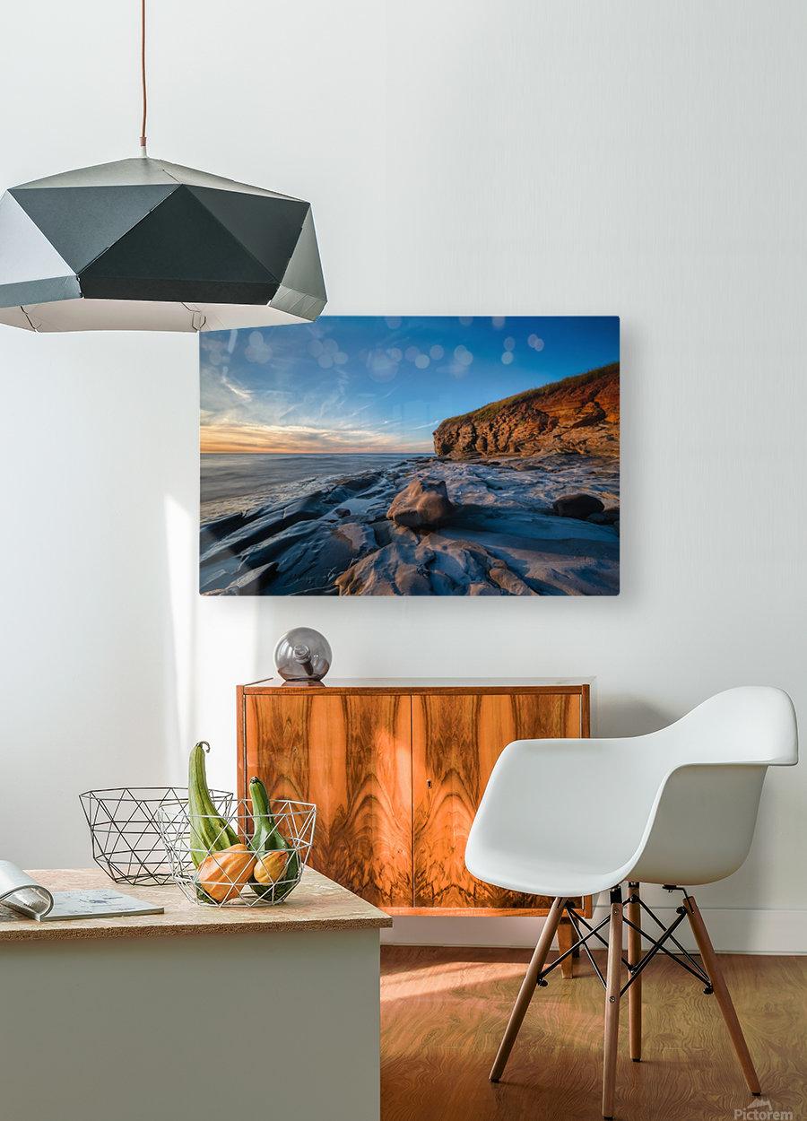 Coastal Sunset  HD Metal print with Floating Frame on Back