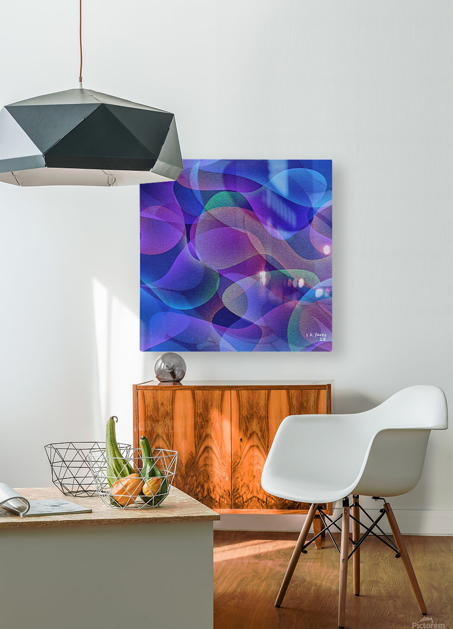 ABSTRACT ART 24  HD Metal print with Floating Frame on Back