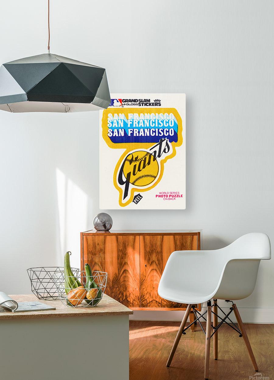 1979 fleer hi gloss san francisco giants sticker poster  HD Metal print with Floating Frame on Back