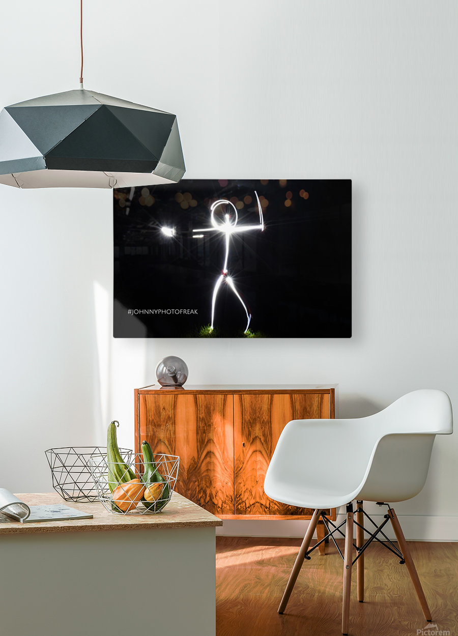 Stickman series   HD Metal print with Floating Frame on Back
