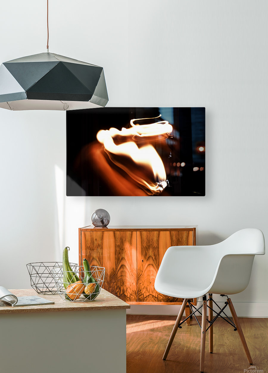 Fire Trail sculpture   HD Metal print with Floating Frame on Back