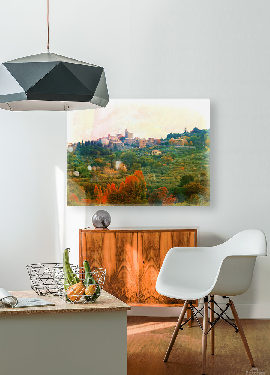 Panicale in Fall  HD Metal print with Floating Frame on Back