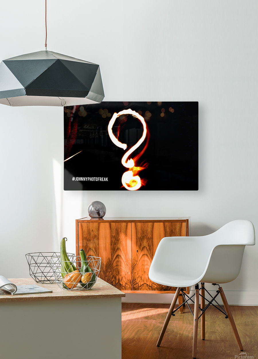 Question Mark   HD Metal print with Floating Frame on Back