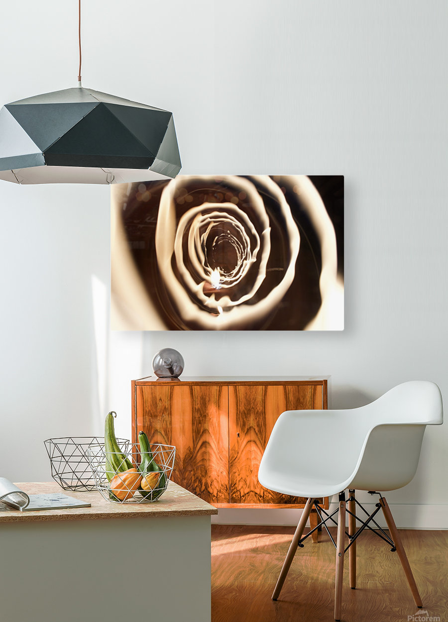 Fire tunnel 2  HD Metal print with Floating Frame on Back