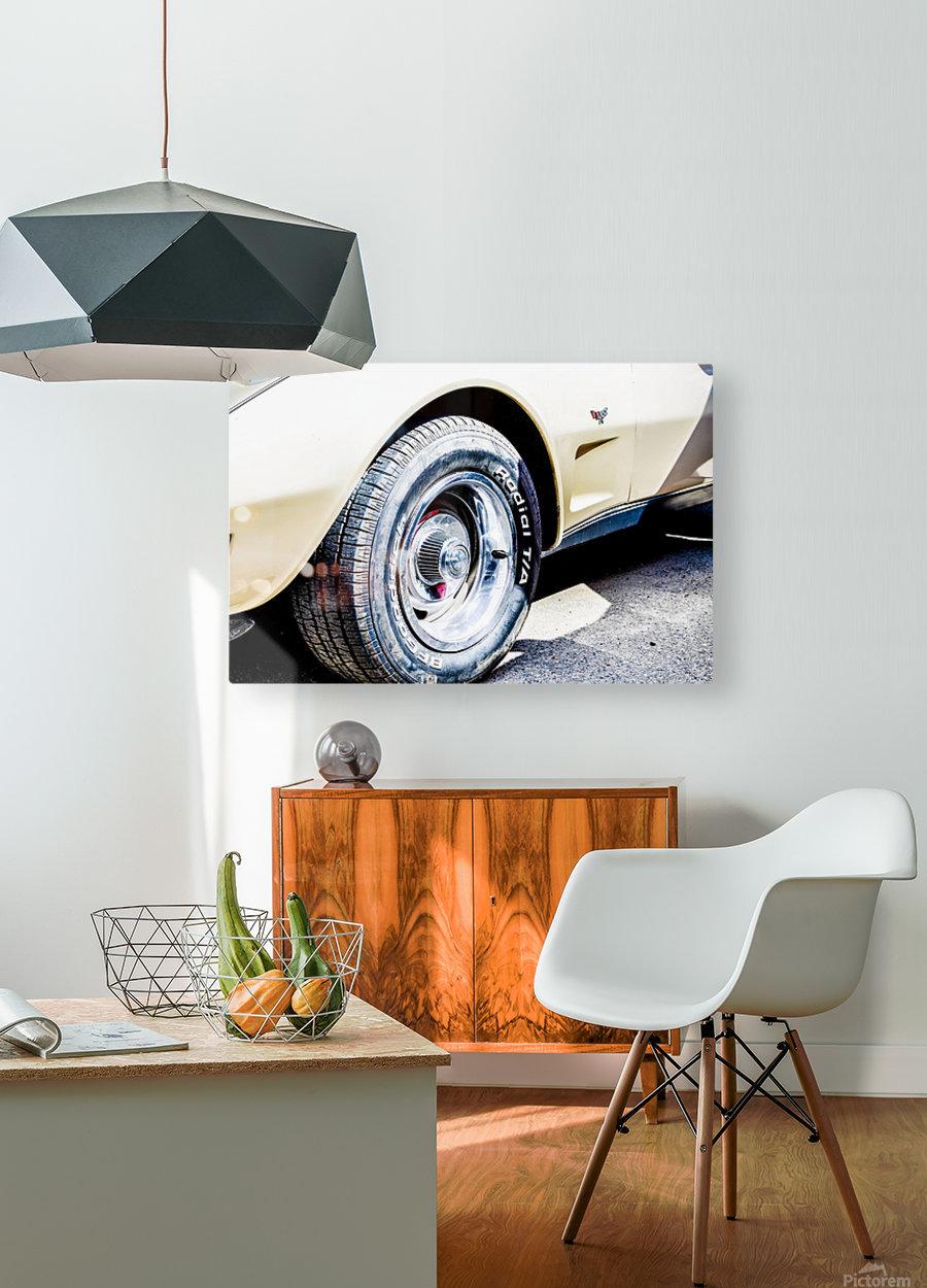 Old corvette   HD Metal print with Floating Frame on Back