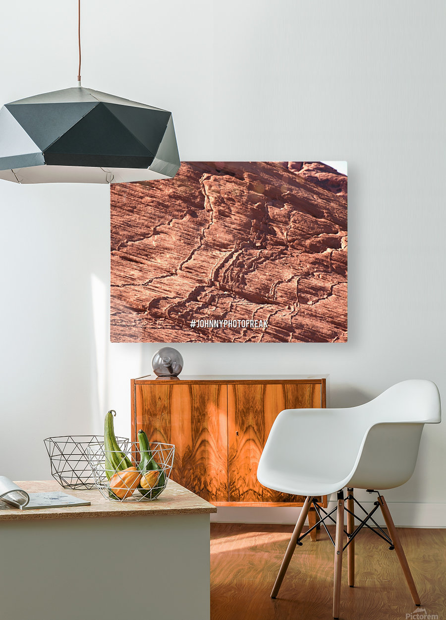 Rock canyon  HD Metal print with Floating Frame on Back