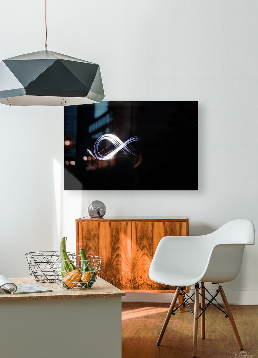 Abstract infinity   HD Metal print with Floating Frame on Back