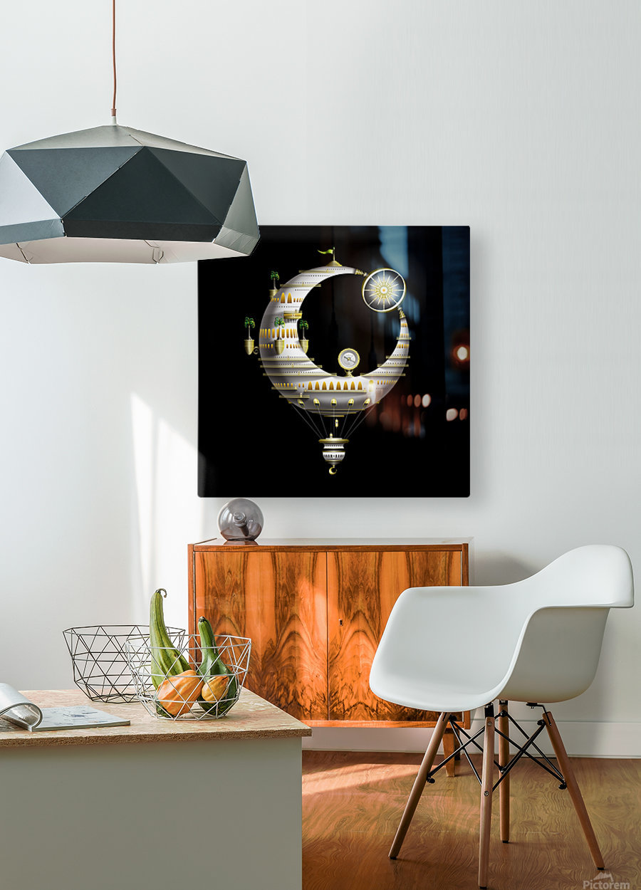 Marcelluna Balloone  HD Metal print with Floating Frame on Back