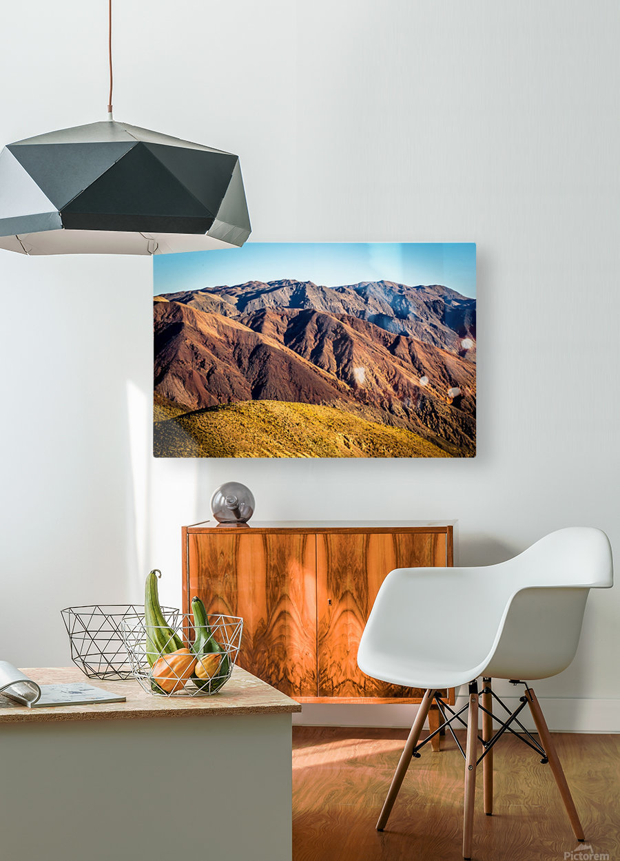Death Valley mountain  HD Metal print with Floating Frame on Back