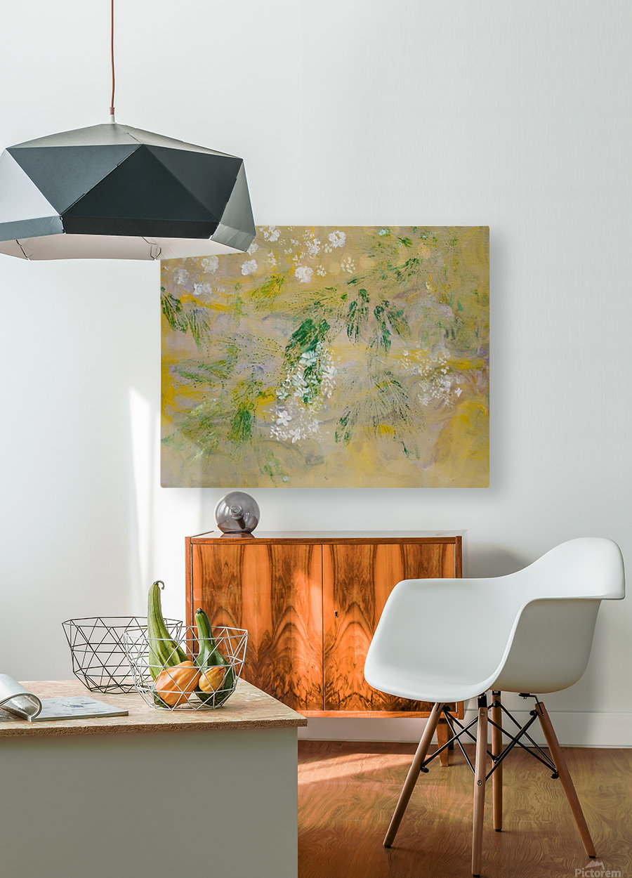 Impressions of Hydrangea II  HD Metal print with Floating Frame on Back