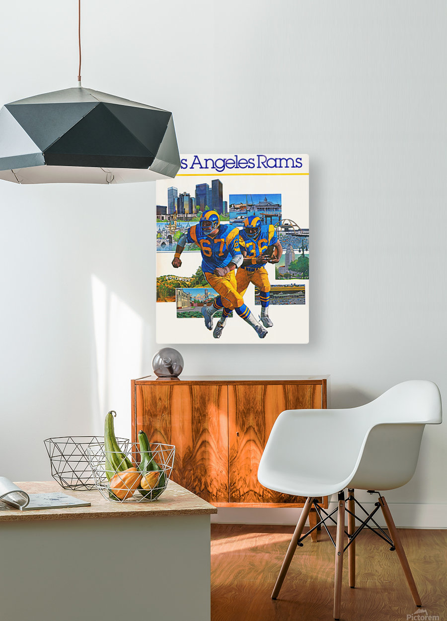 1982 la rams downtown los angeles hollywood poster  HD Metal print with Floating Frame on Back