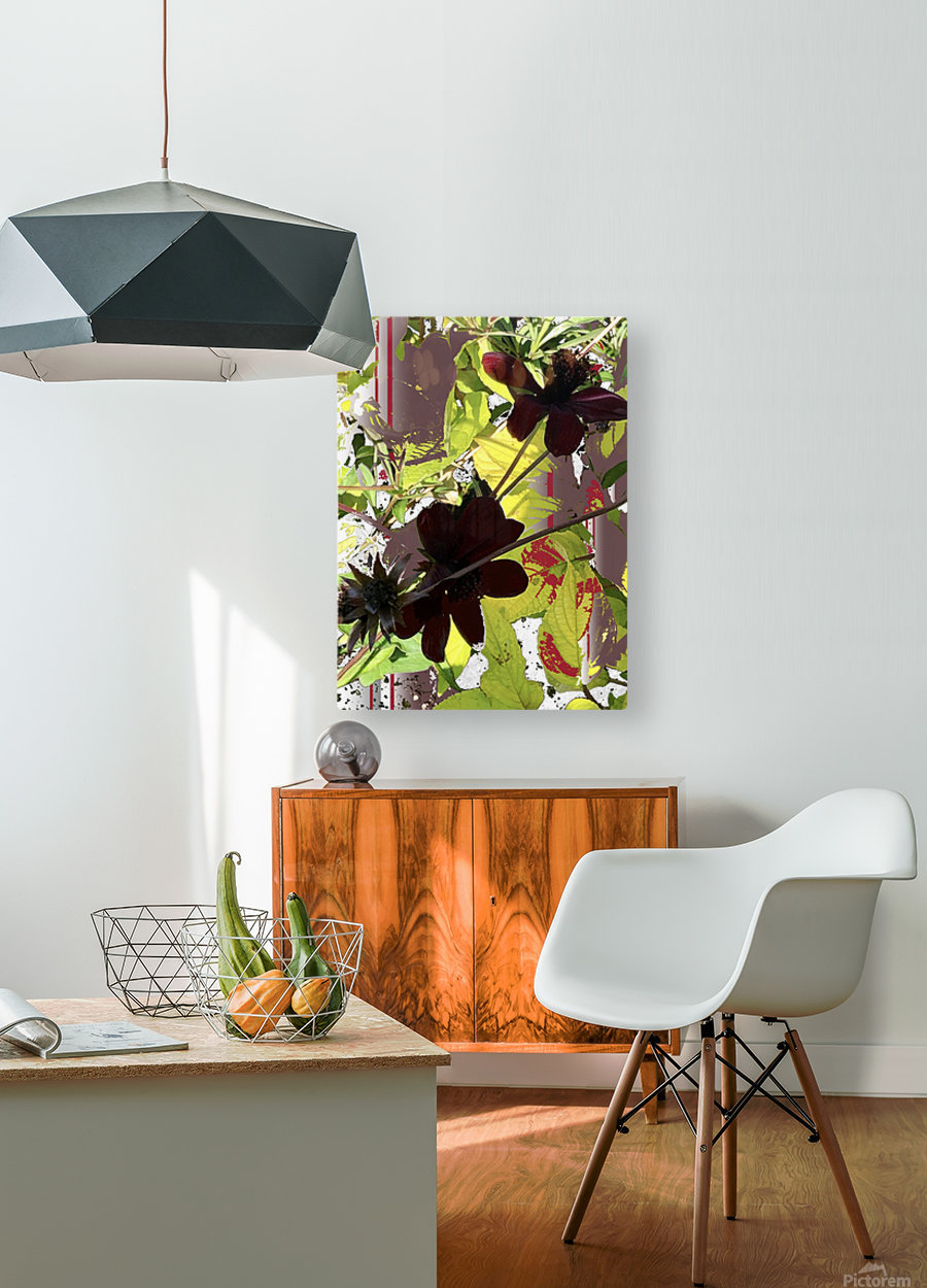 Mixed Floral Arrangement 200719  HD Metal print with Floating Frame on Back