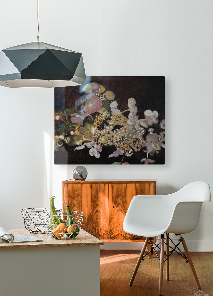 The Table Bouquet  HD Metal print with Floating Frame on Back