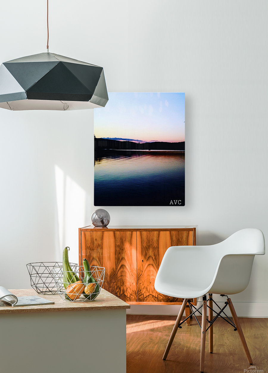 Vermont Sunset  HD Metal print with Floating Frame on Back