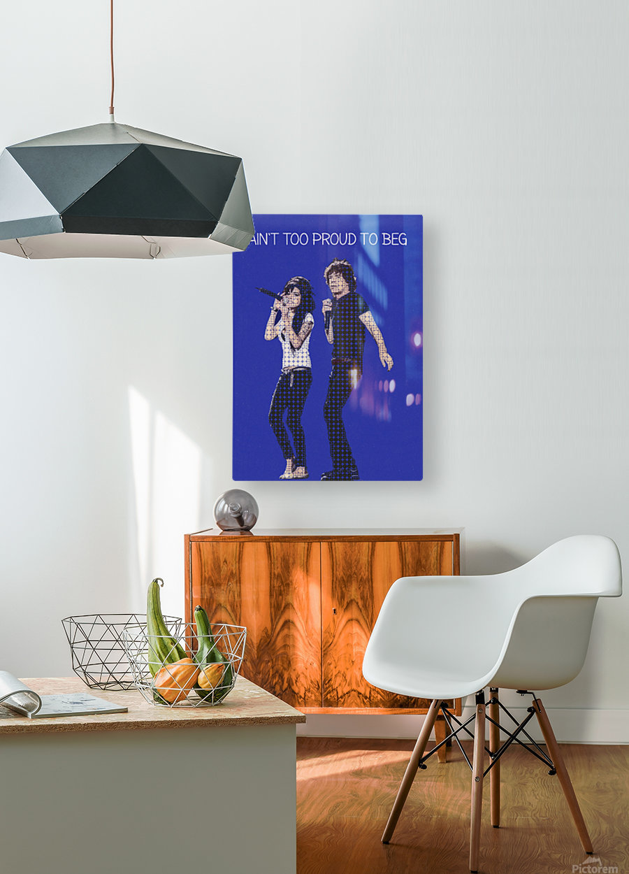 Aint Too Proud to beg   Amy Winehouse & Mick Jagger  HD Metal print with Floating Frame on Back