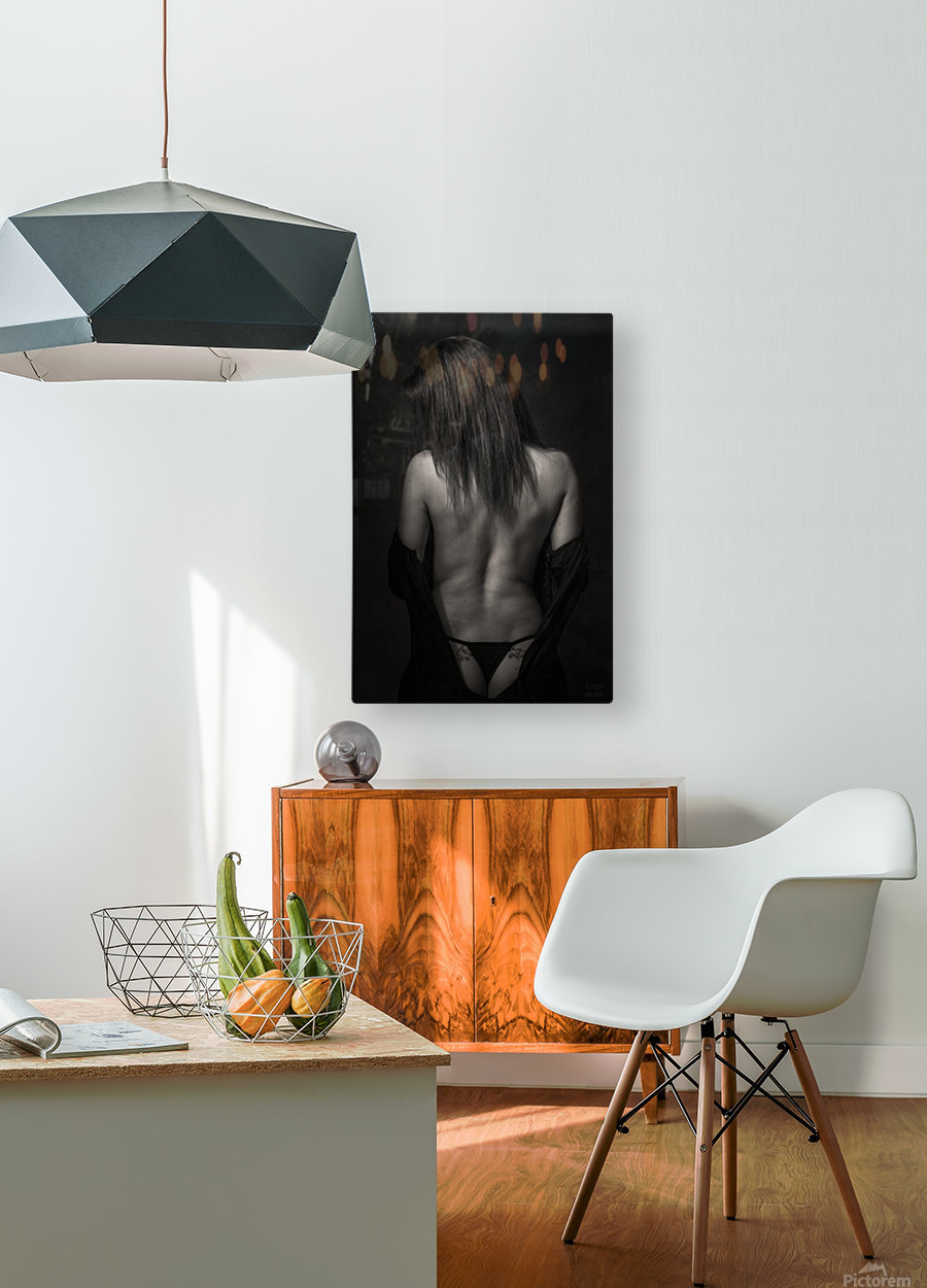 Melany 2  HD Metal print with Floating Frame on Back