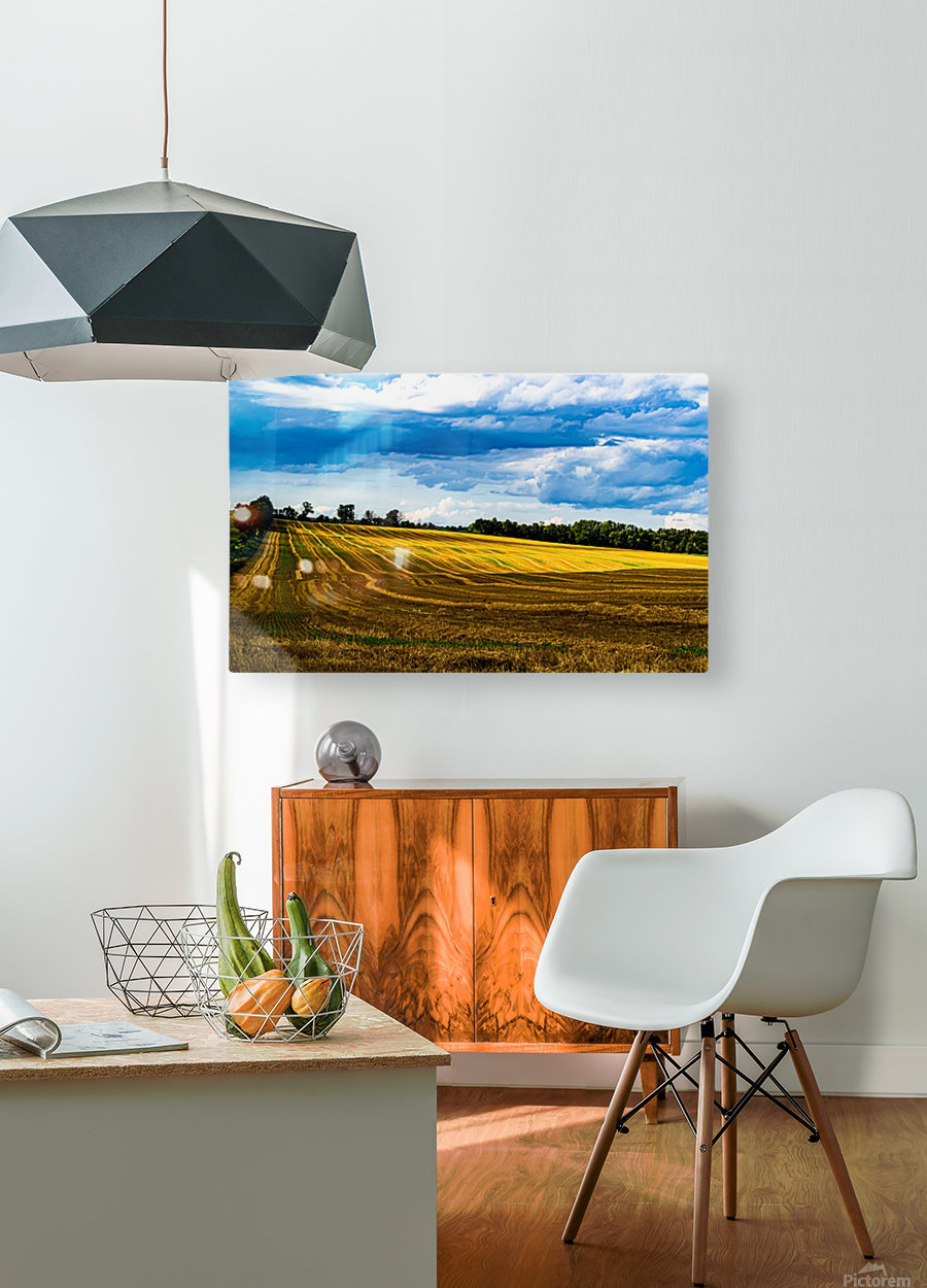 Contours of Taunton 1  HD Metal print with Floating Frame on Back