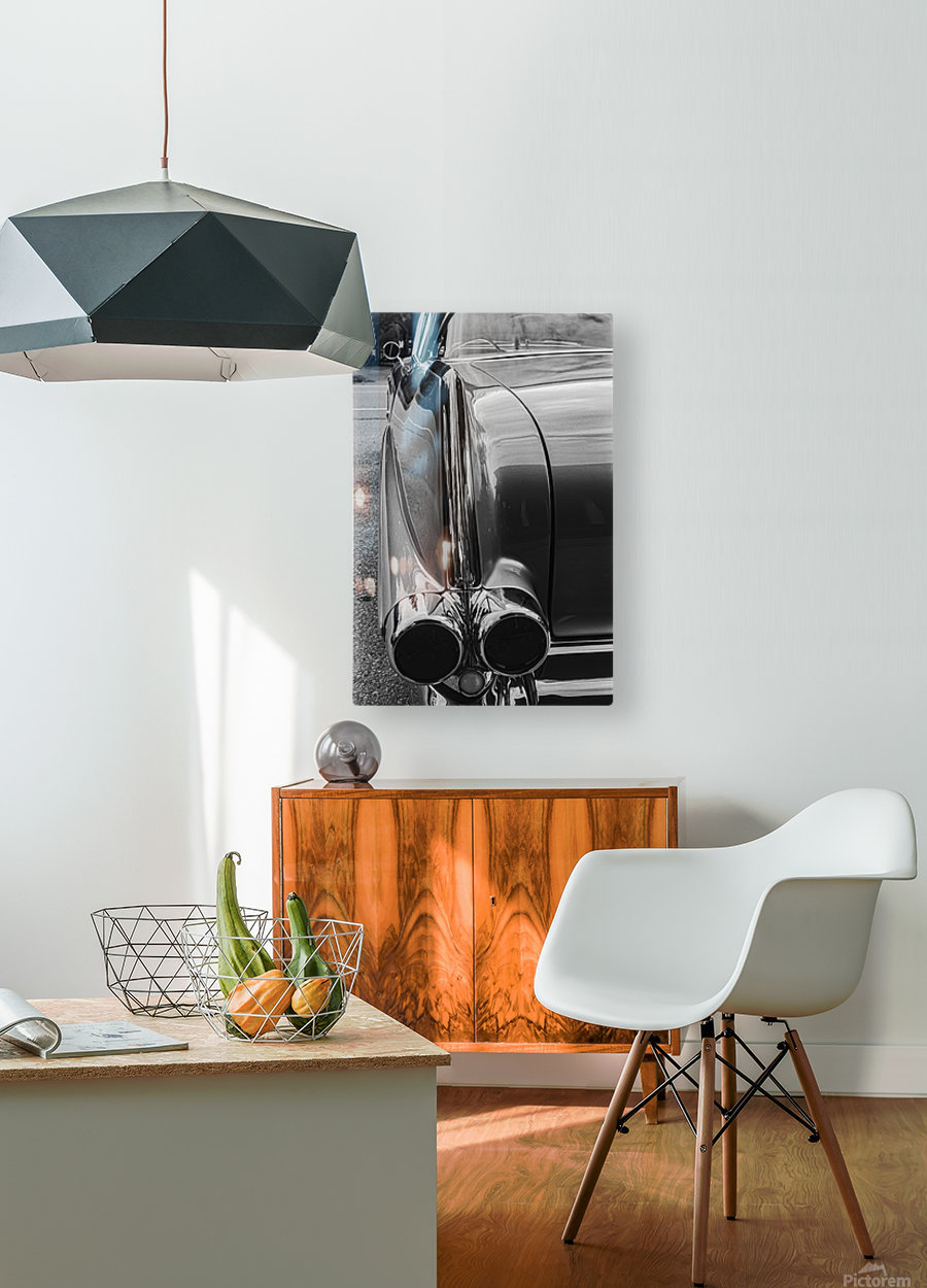 Chrome Sharkfin  HD Metal print with Floating Frame on Back