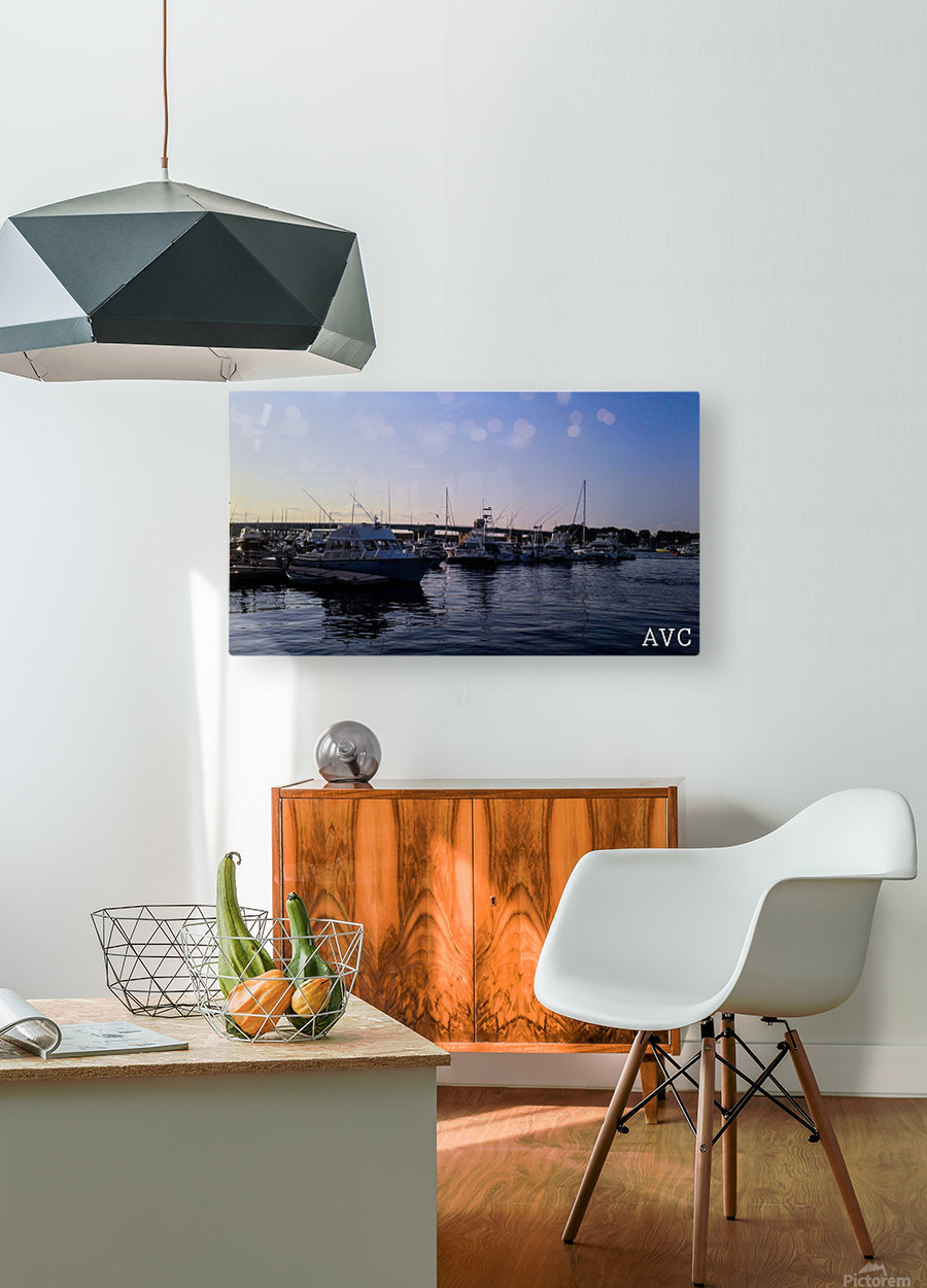 Small Harbor  HD Metal print with Floating Frame on Back