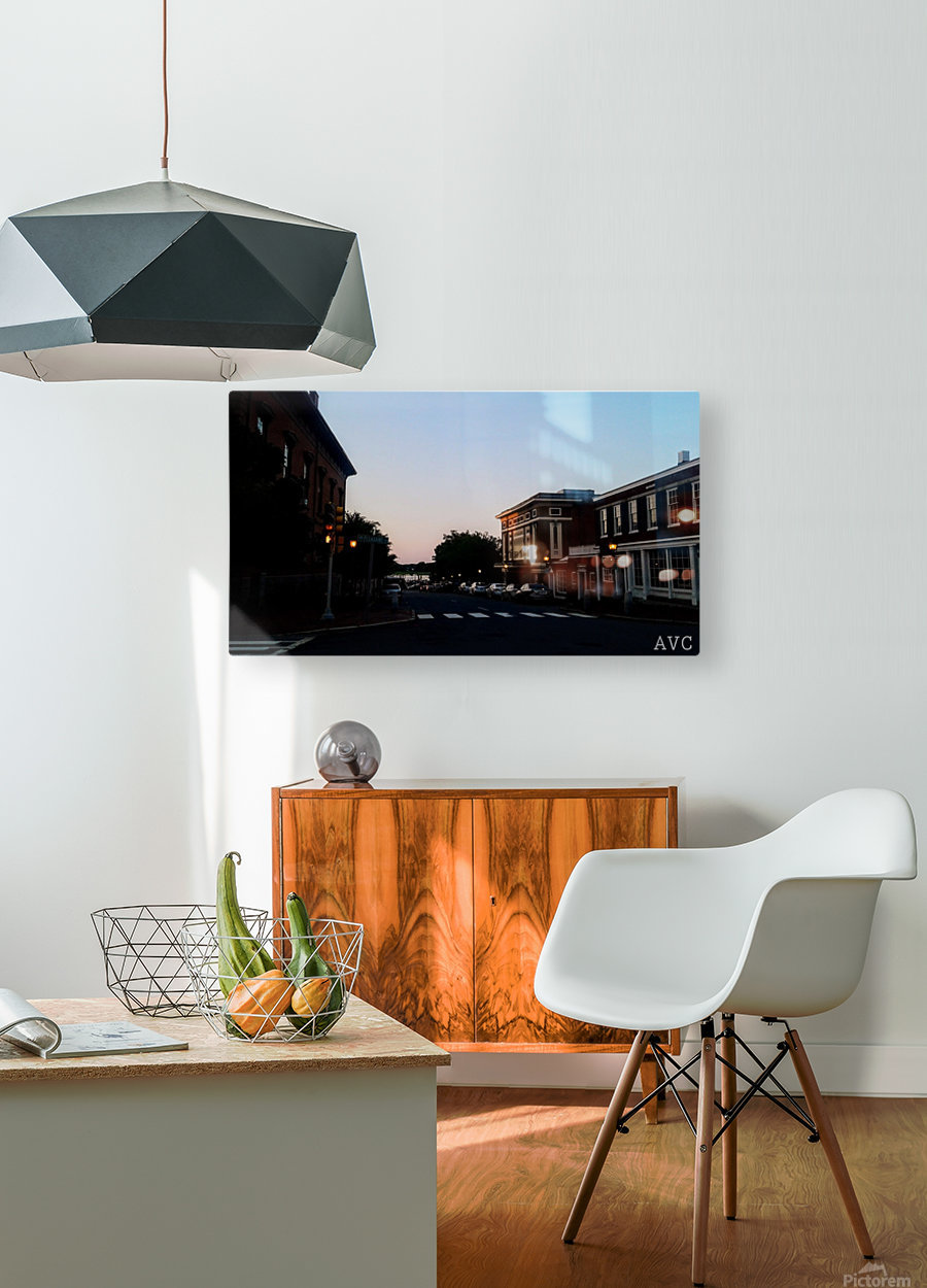 Corner of Pleasant  HD Metal print with Floating Frame on Back