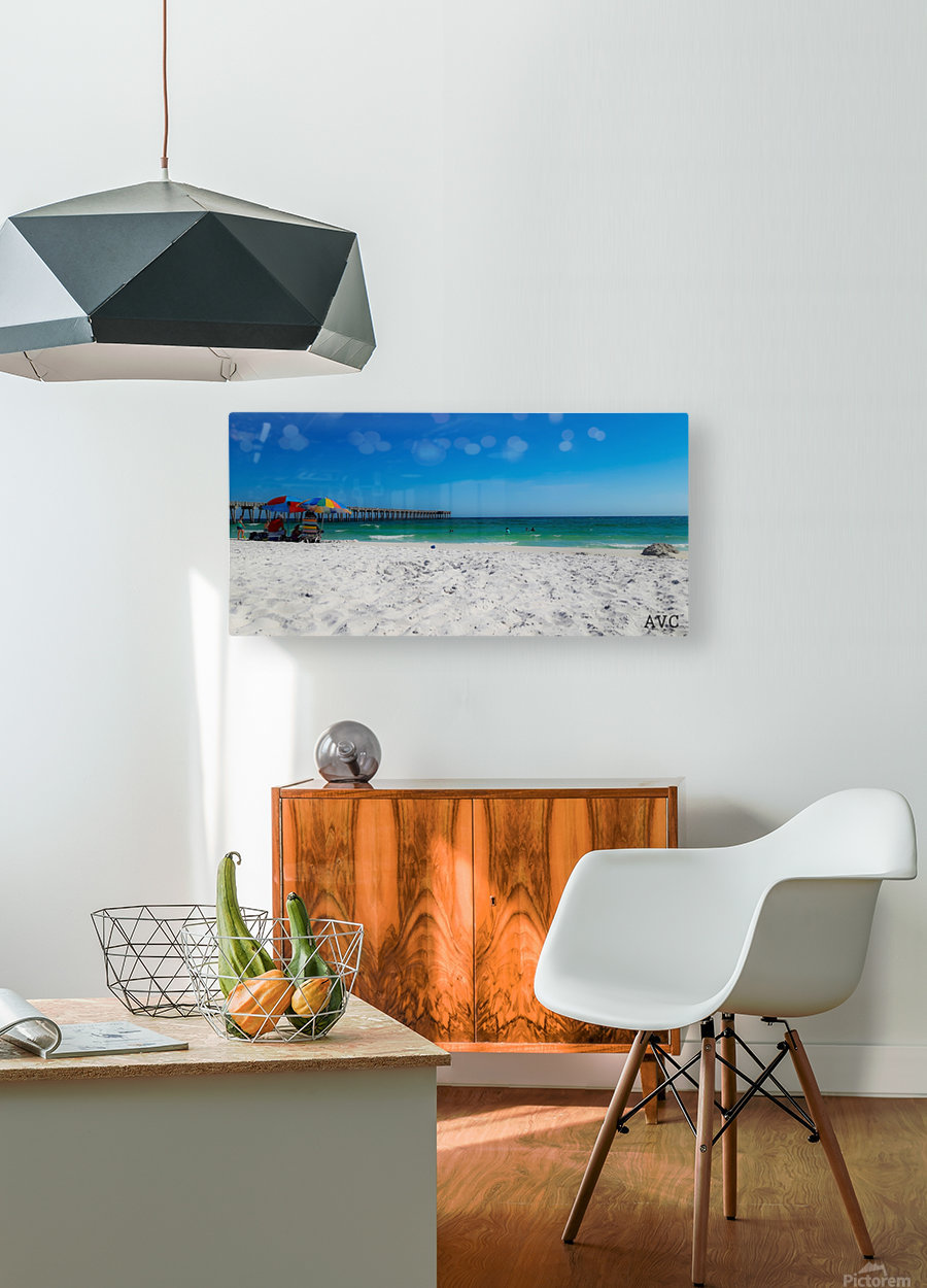 The Emerald Coast  HD Metal print with Floating Frame on Back