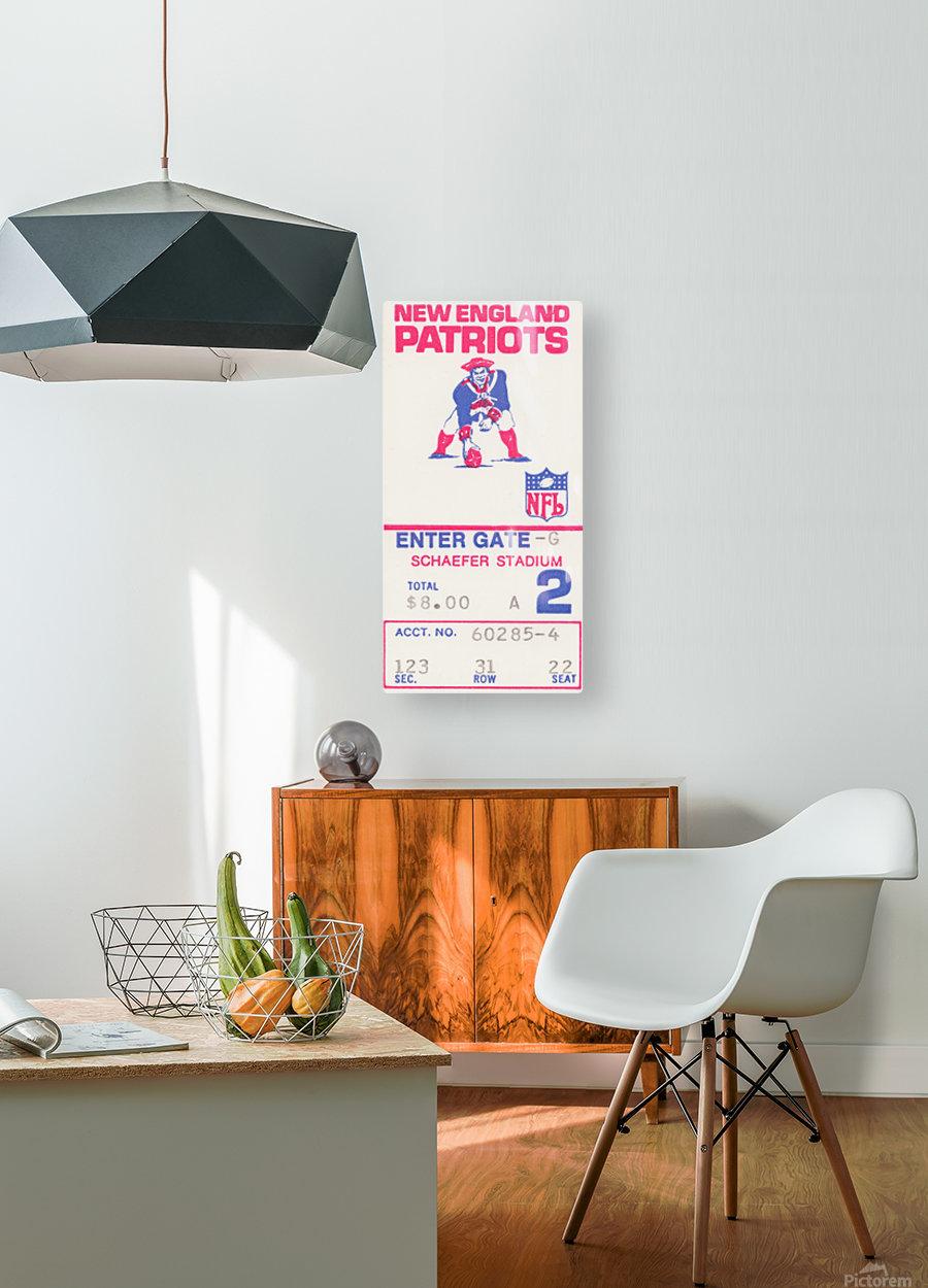 1972 new england patriots schaefer stadium art  HD Metal print with Floating Frame on Back