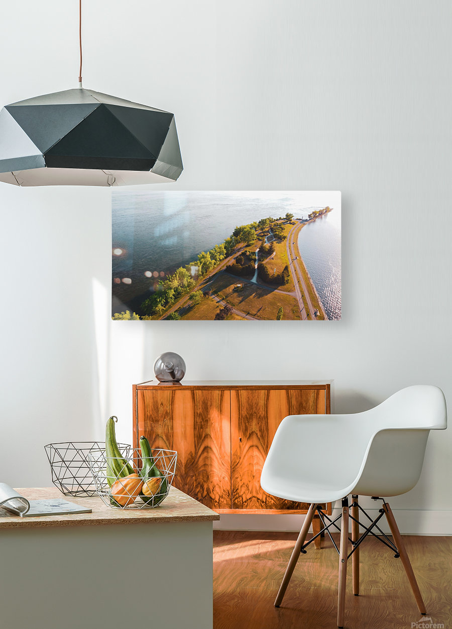 West River Shore  HD Metal print with Floating Frame on Back