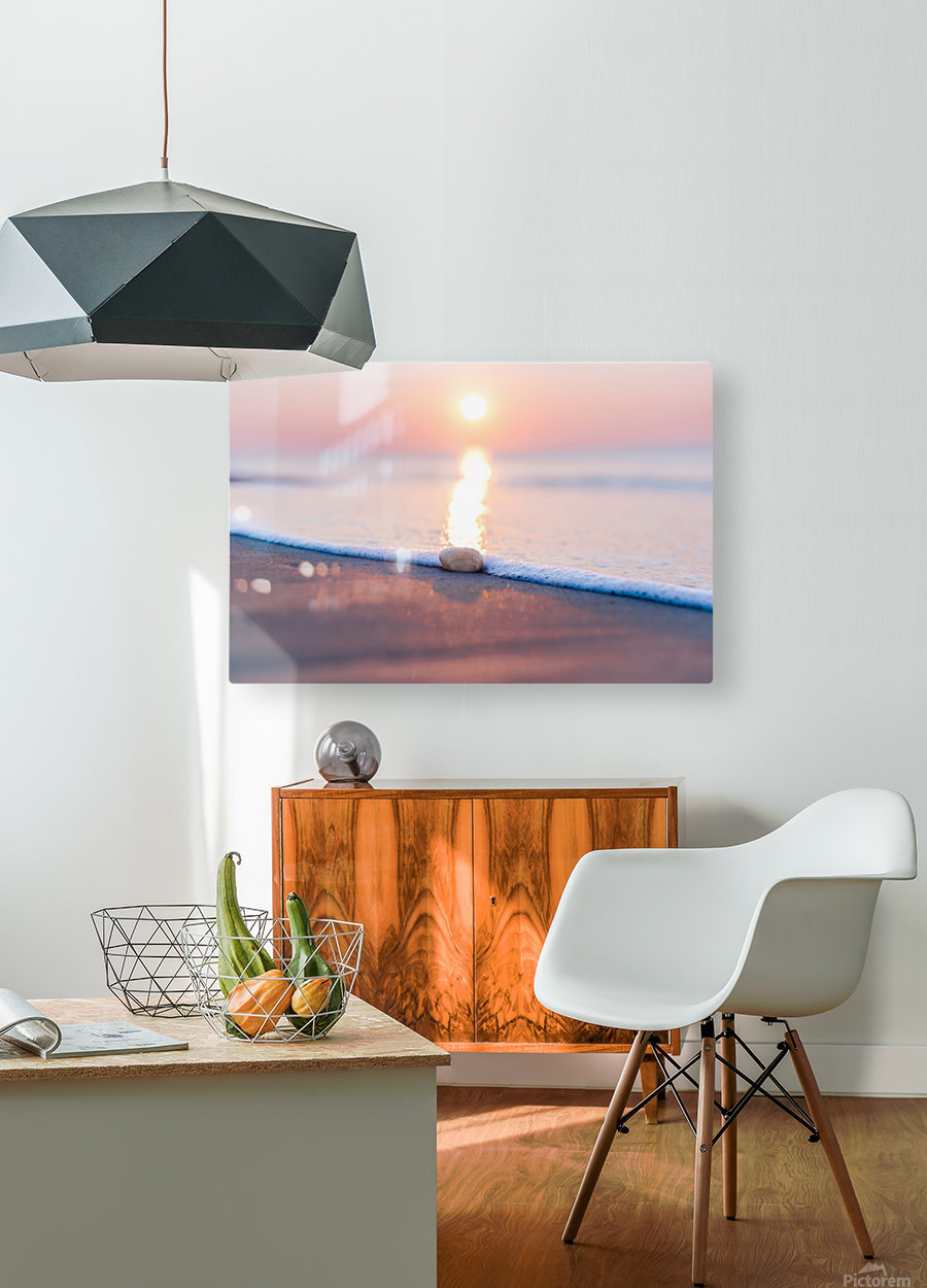 Touch of Light   HD Metal print with Floating Frame on Back