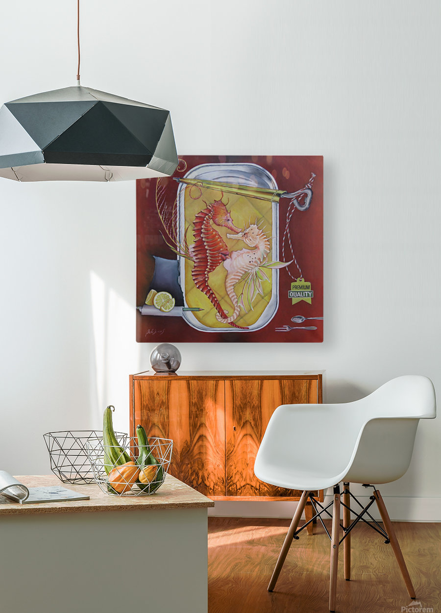 Appetizer   HD Metal print with Floating Frame on Back