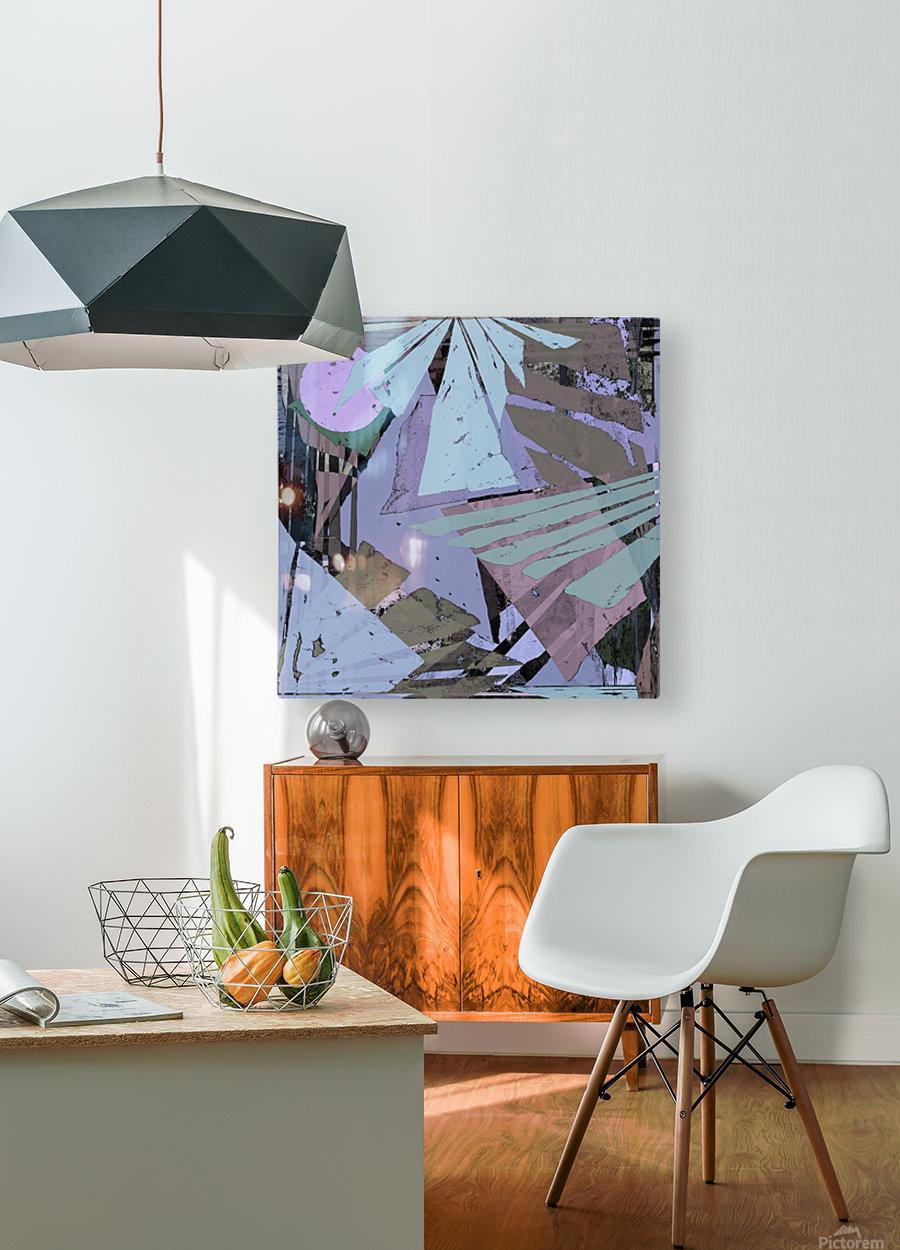 Broken window pane  HD Metal print with Floating Frame on Back