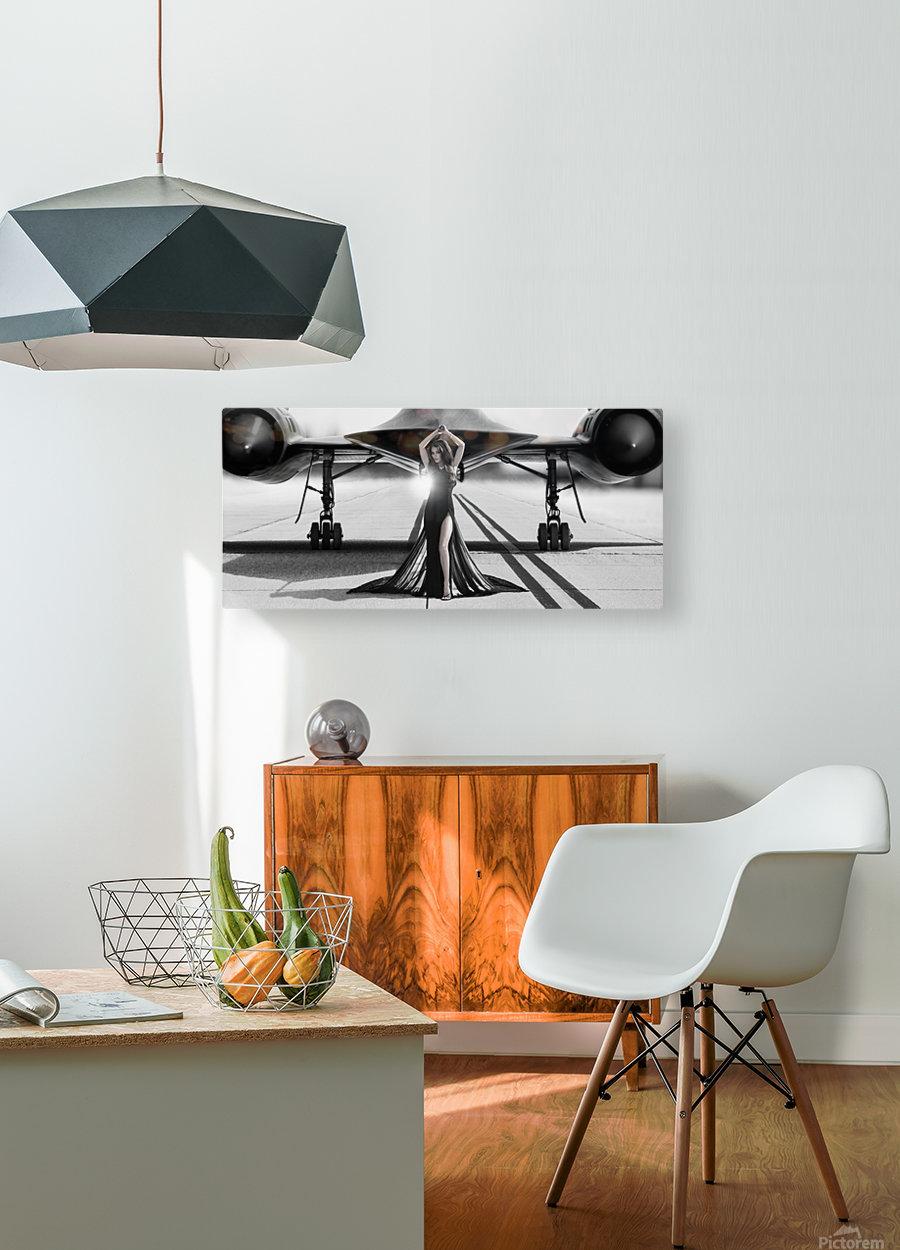 Area 71 Dark Diva  HD Metal print with Floating Frame on Back