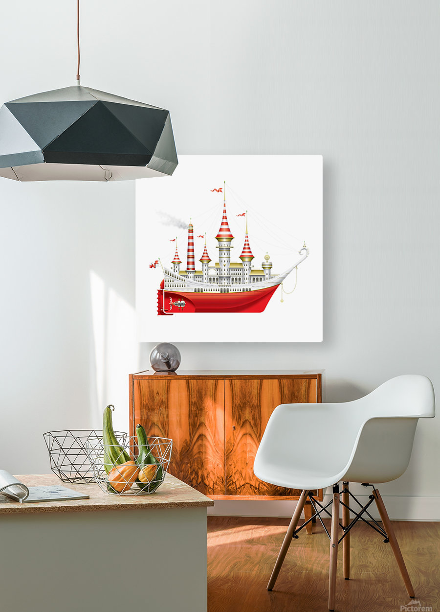 Crocciere Caravelle  HD Metal print with Floating Frame on Back