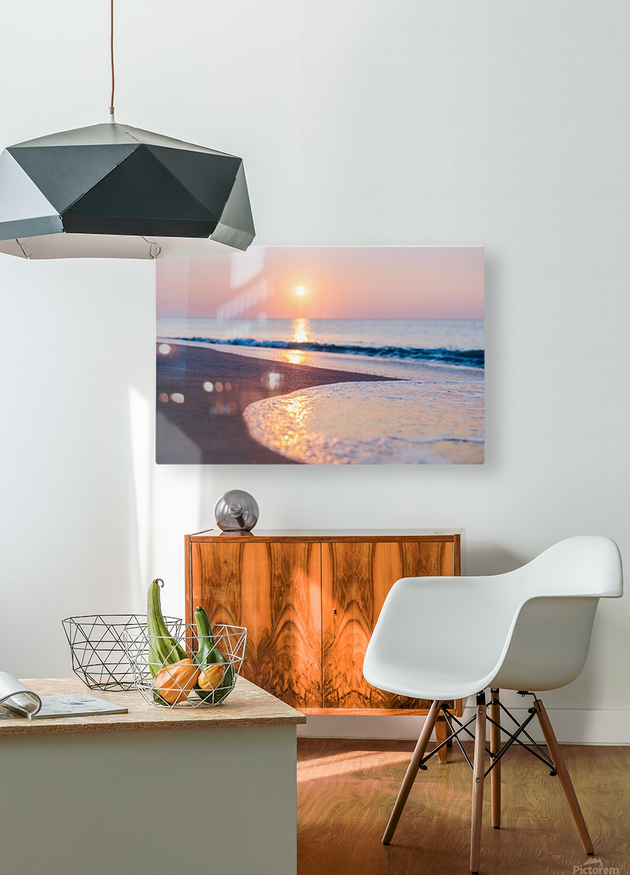 Seashore Bliss  HD Metal print with Floating Frame on Back