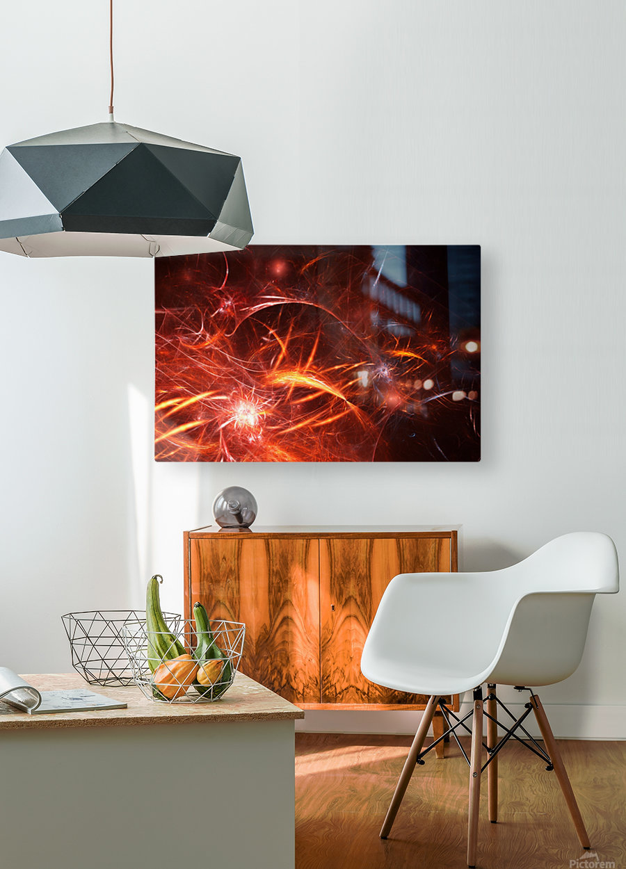 The Forge  HD Metal print with Floating Frame on Back