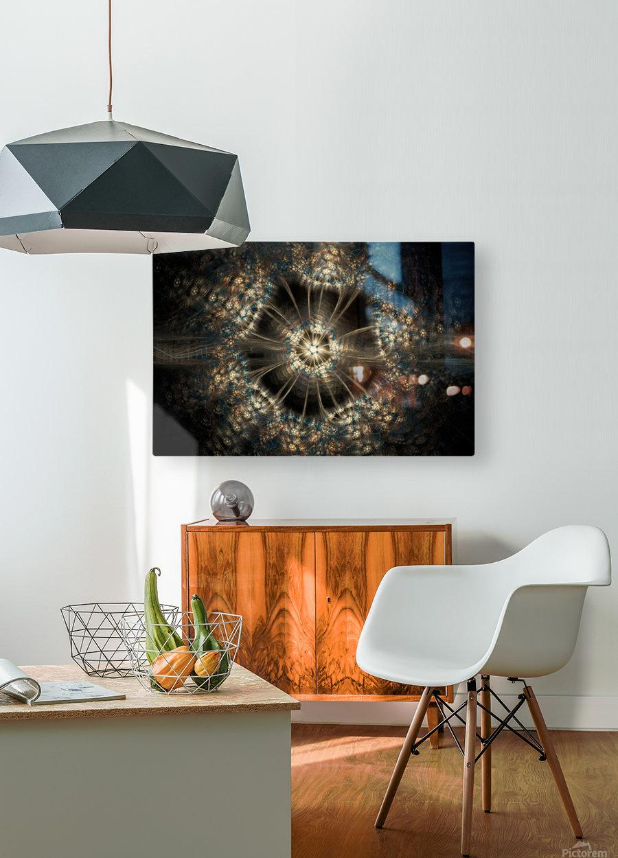 Blink  HD Metal print with Floating Frame on Back