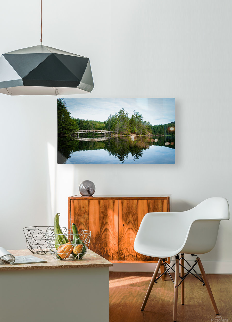 Beautiful Arch Bridge  HD Metal print with Floating Frame on Back
