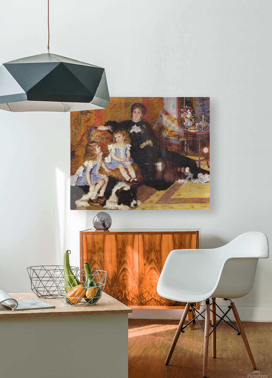 Madame Charpentier and her children  HD Metal print with Floating Frame on Back