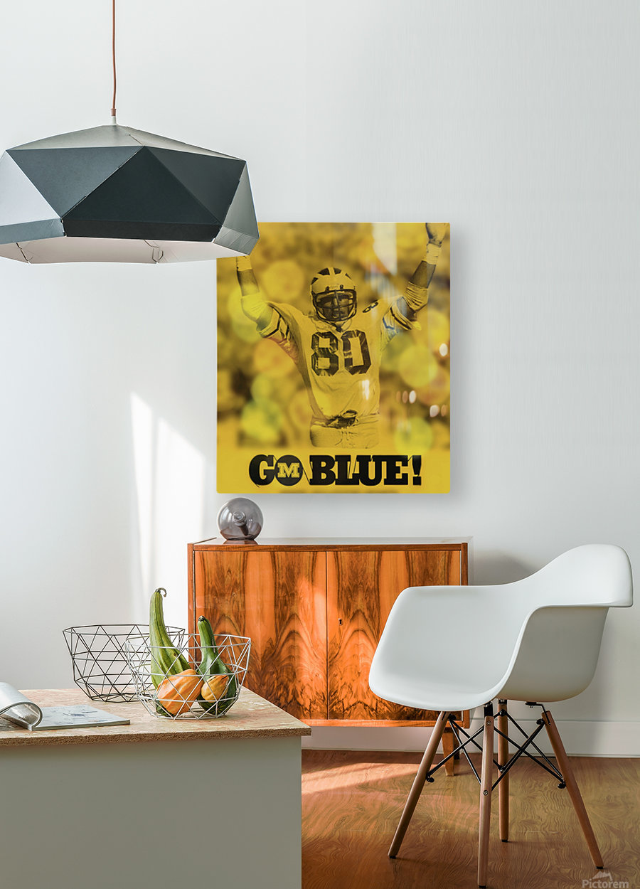 1979 michigan football go blue  HD Metal print with Floating Frame on Back