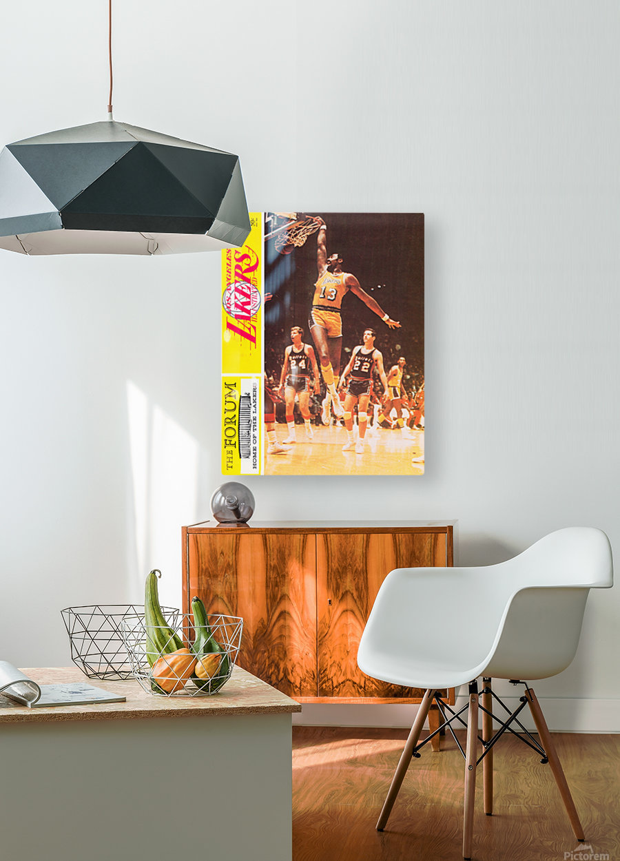 1968 la lakers basketball poster wilt chamberlain dunk photo  HD Metal print with Floating Frame on Back