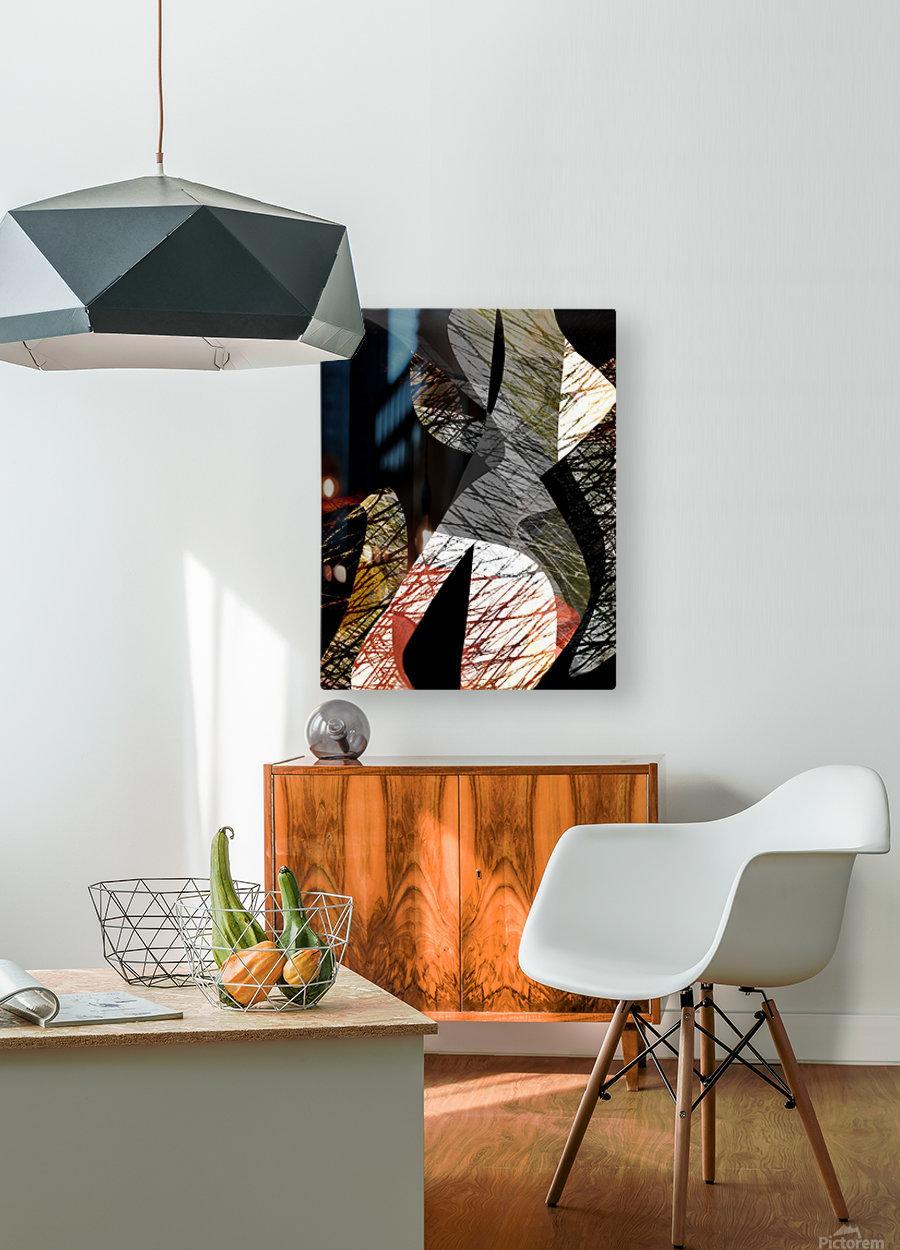 J A Z Z  HD Metal print with Floating Frame on Back