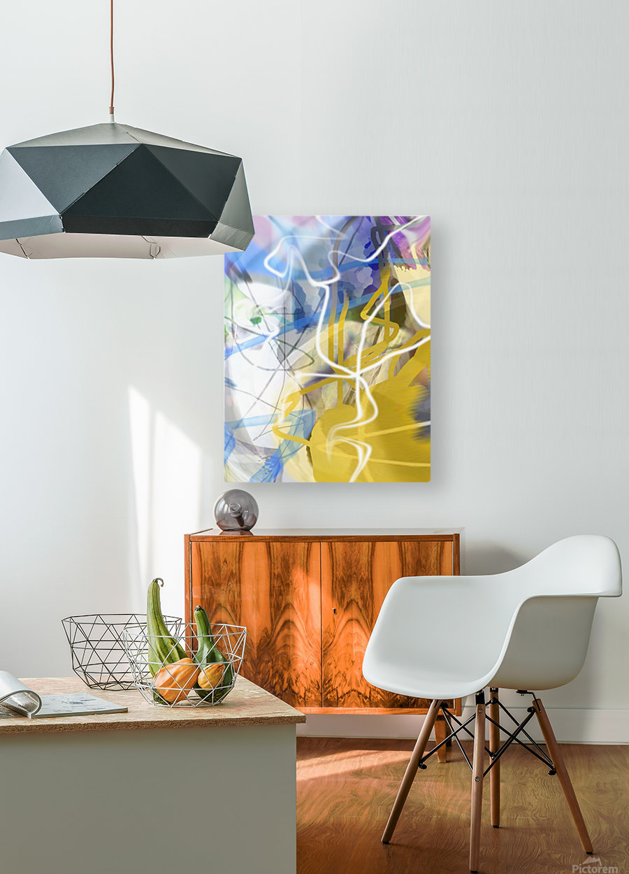L O A  HD Metal print with Floating Frame on Back