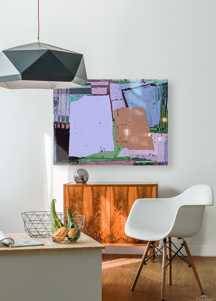 Urban  HD Metal print with Floating Frame on Back
