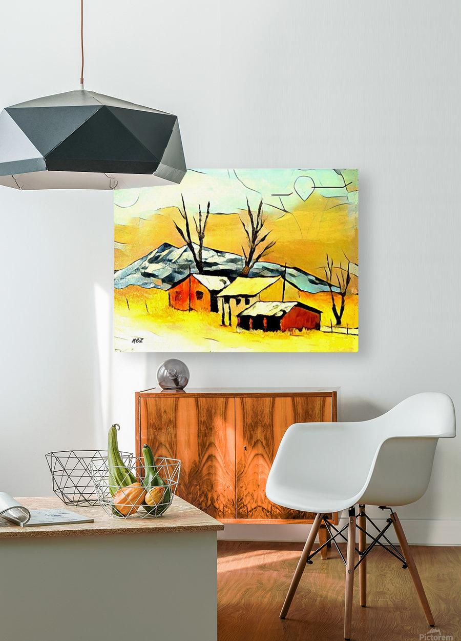 Hot summer in Erda  HD Metal print with Floating Frame on Back